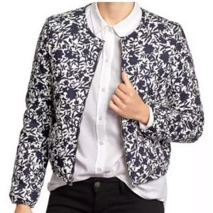 Old Navy Quilted Bomber jacket cotton floral XS